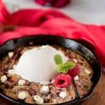 Red Velvet Swirl Skillet Brownies for Two
