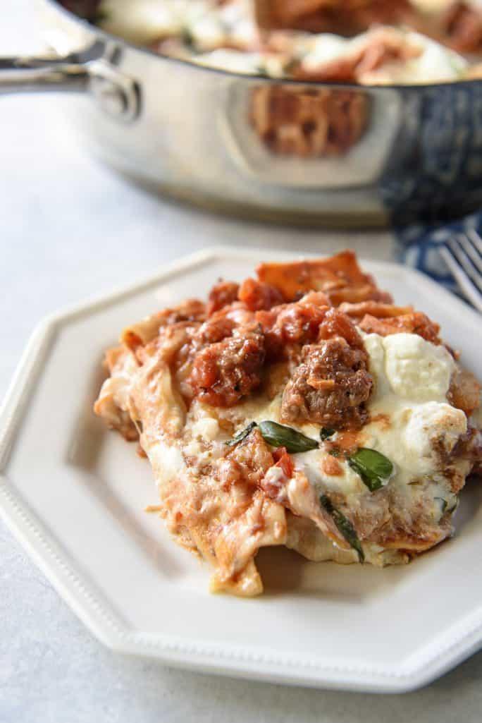 Easy Weekday Skillet Lasagna