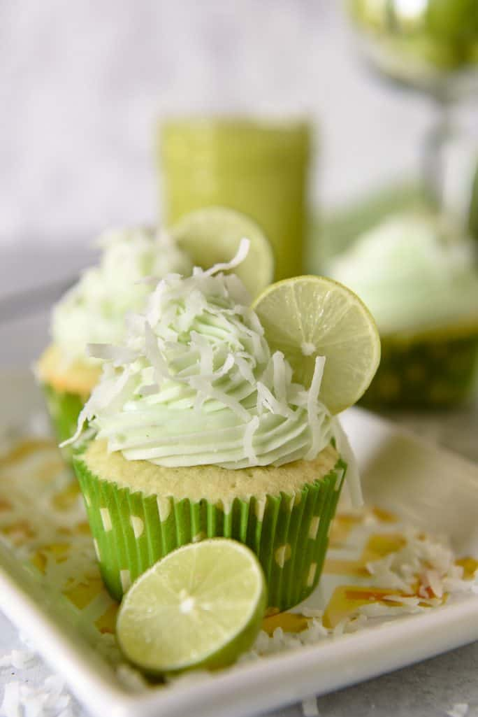 Coconut Lime Cupcakes with Key Lime Curd Filling