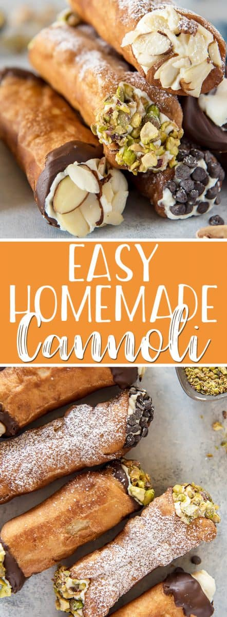 This homemade cannoli recipe is so easy to make, and the end results taste just as satisfying as one bought from an Italian bakery! The aromatic, crispy fried shells stuffed with creamy, sweetened ricotta cannoli filling will make even the most ordinary day special.