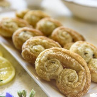 Easy 4-Ingredient Lemon Thyme Palmiers