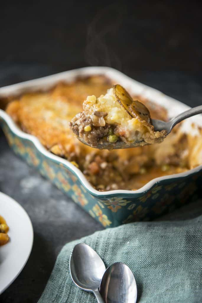 Scalloped Potato Shepherd's Pie