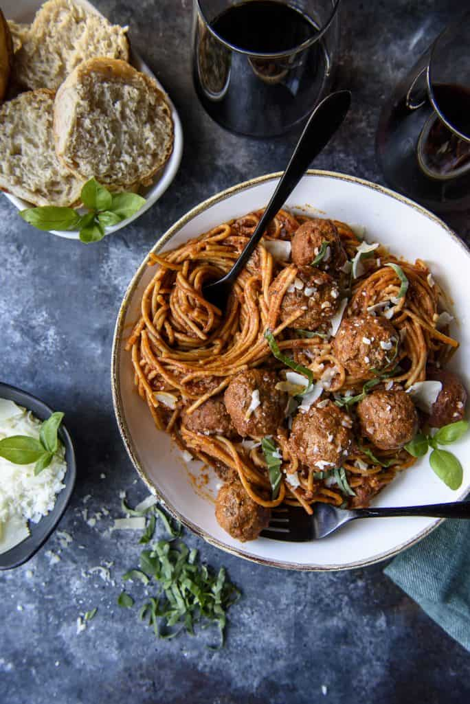 30-Minute Instant Pot Spaghetti and Meatballs