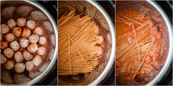 30-Minute Instant Pot recipes - Spaghetti and Meatballs