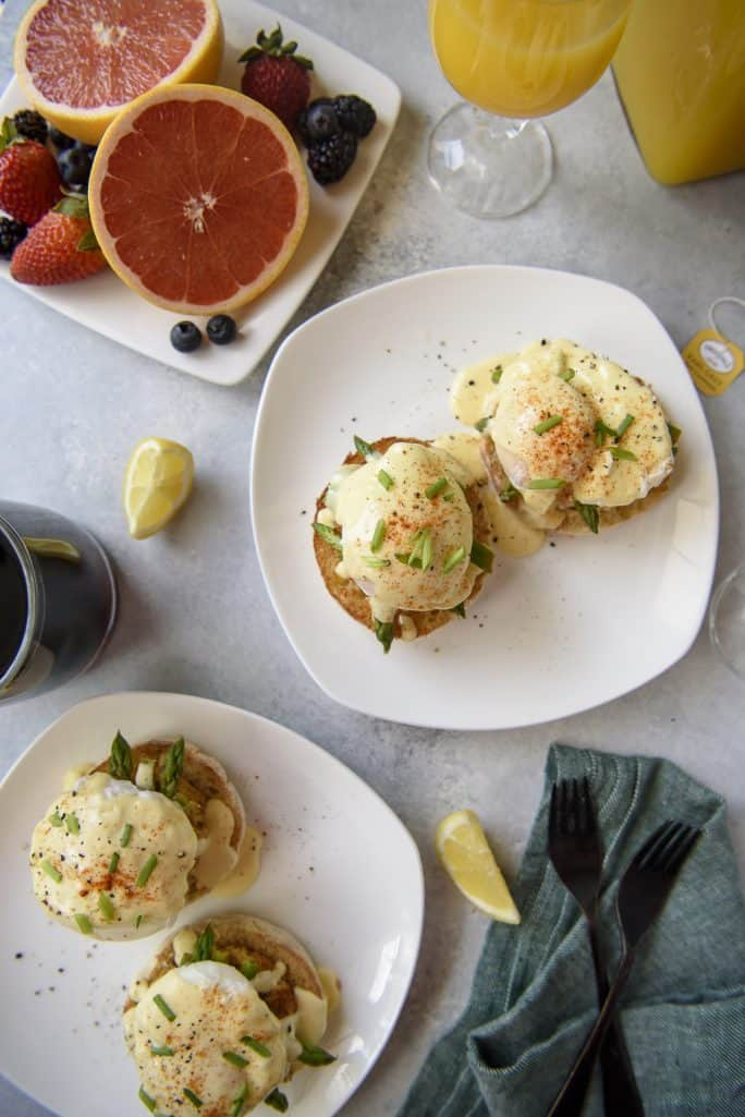 Asparagus and Crab Cake Benedict