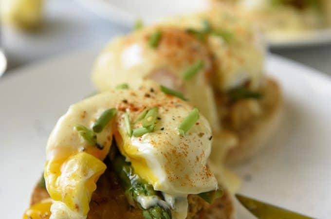 Asparagus and Crab Cake Benedict