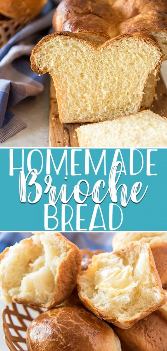 Once you've tried this easy Homemade Brioche Bread recipe, you'll never want another store-bought slice of bread! This deliciously buttery and rich French yeast bread can be made into loaves or rolls and makes the best bread pudding and French toast in the world!