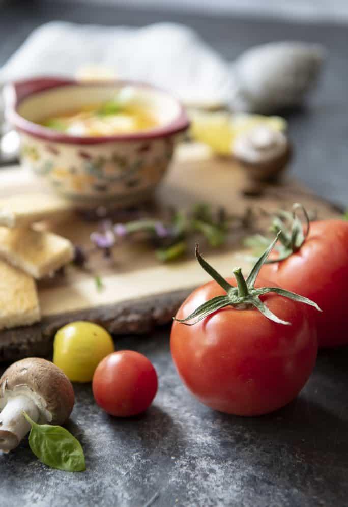Instant Pot Tomato Basil Eggs en Cocotte