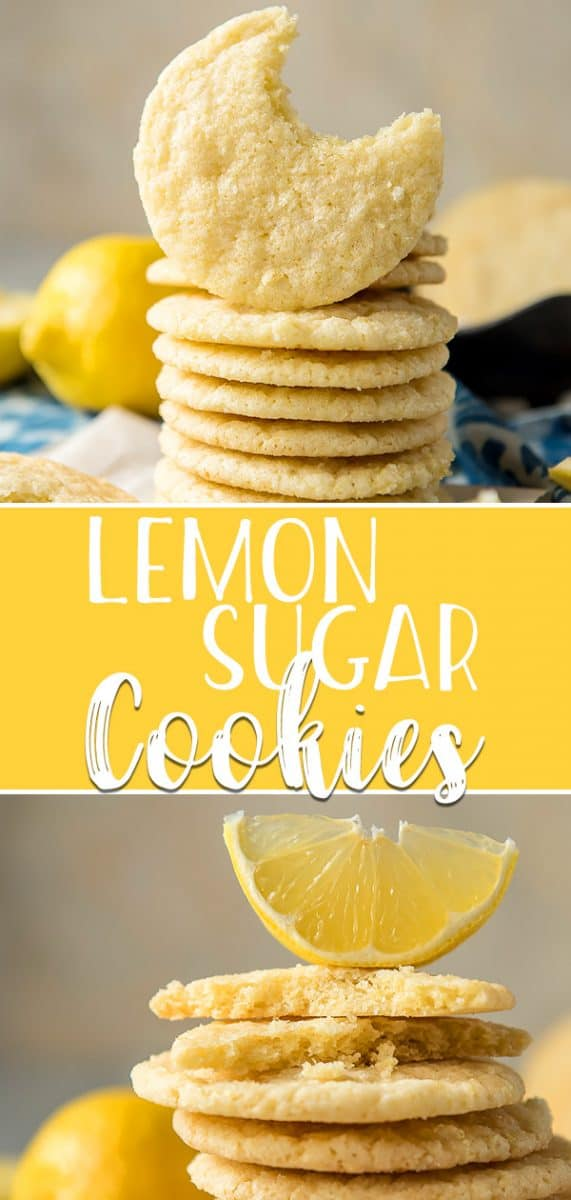 These Lemon Sugar Cookies are bursting with sweet-tart flavor and perfect for spring! Crispy on the outside while completely soft and chewy on the inside, they're rolled in lemon sugar before baking for ultimate lemon goodness.