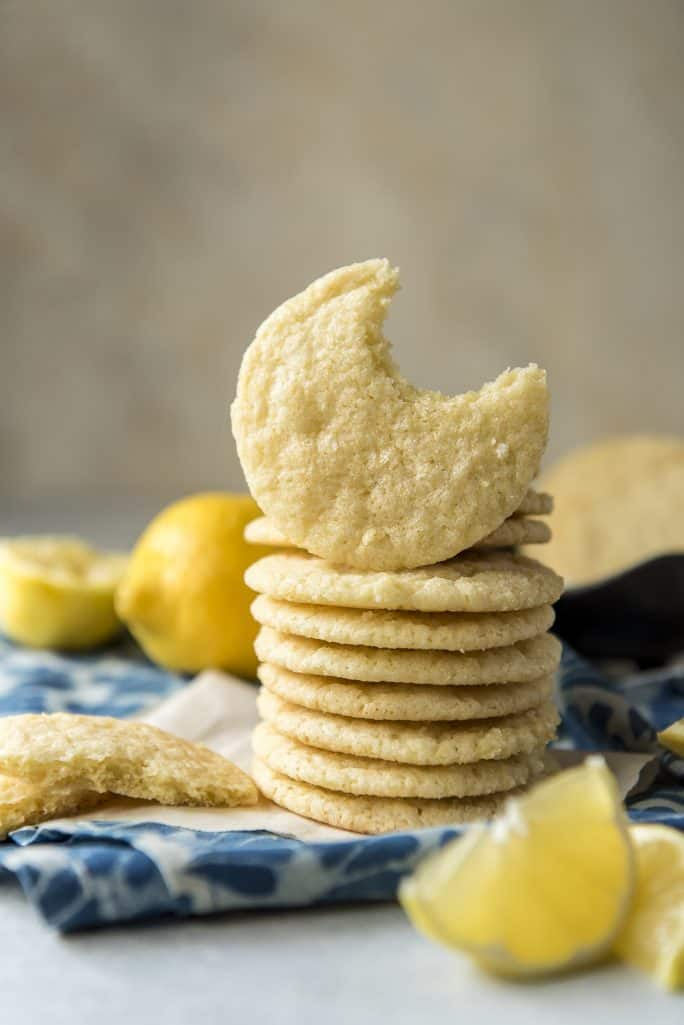 Soft & Chewy Lemon Sugar Cookies recipe