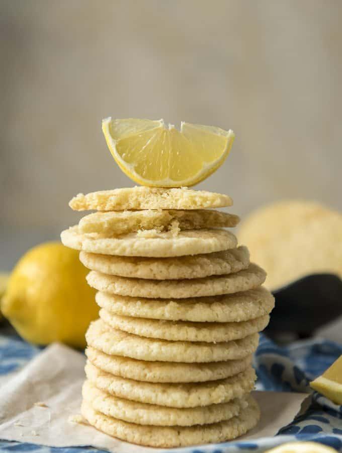 Soft & Chewy Lemon Sugar Cookies recipe