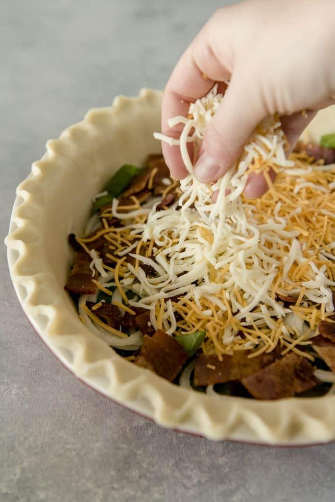 Onion Bacon Spinach Quiche Recipe cheese