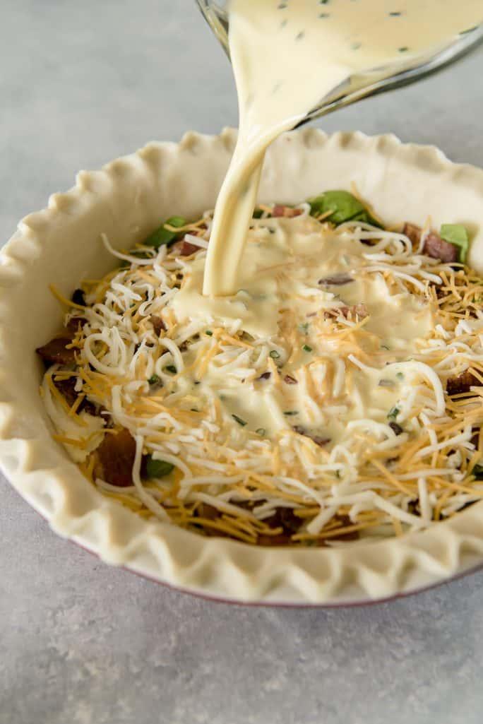 Onion Bacon Spinach Quiche Recipe pour