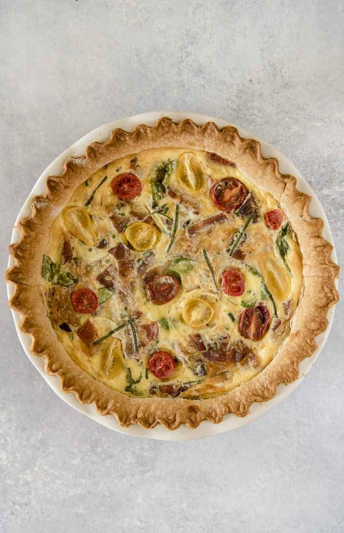 Onion Bacon Spinach Quiche Recipe after