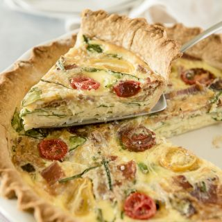 Brunchtime Onion, Bacon & Spinach Quiche