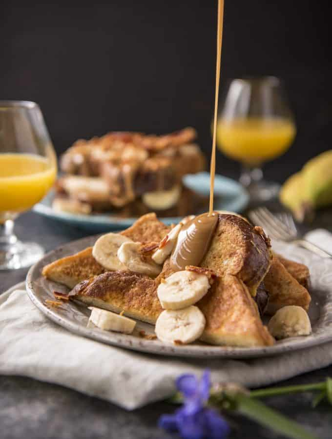 Peanut Butter, Banana, & Bacon Brioche French Toast recipe (Elvis-Style)
