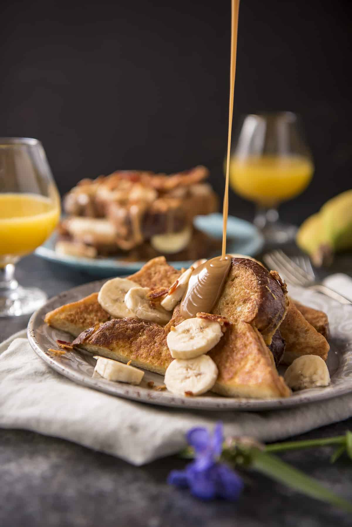 Peanut Butter, Banana, & Bacon Brioche French Toast (Elvis-Style)