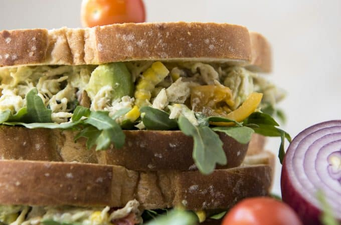 Summer Avocado Chicken Salad Sandwich