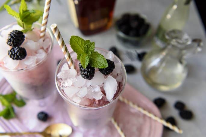 Blackberry Ginger Mint Julep cocktail recipe