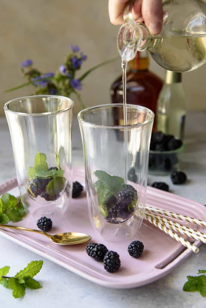 Blackberry Ginger Mint Julep - bourbon cocktail