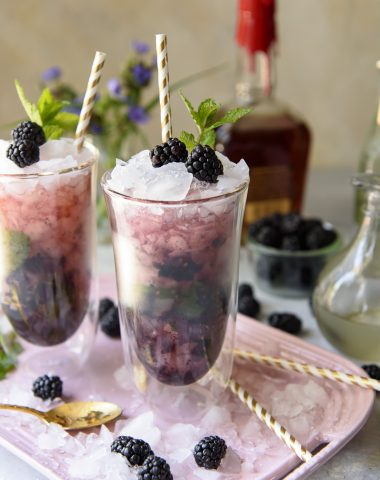 Kentucky Derby cocktail - Blackberry Ginger Mint Julep recipe