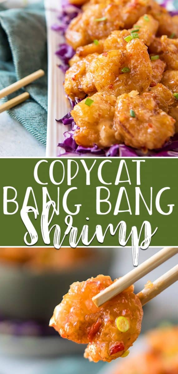 Everyone's favorite Bonefish Grill appetizer can be made at home using this copycat Bang Bang Shrimp recipe! Super crispy deep-fried shrimp are tossed in a sweet-and-spicy mayo-based glaze - perfect on their own, but even better served in tacos, rice bowls, or on an Asian salad.
