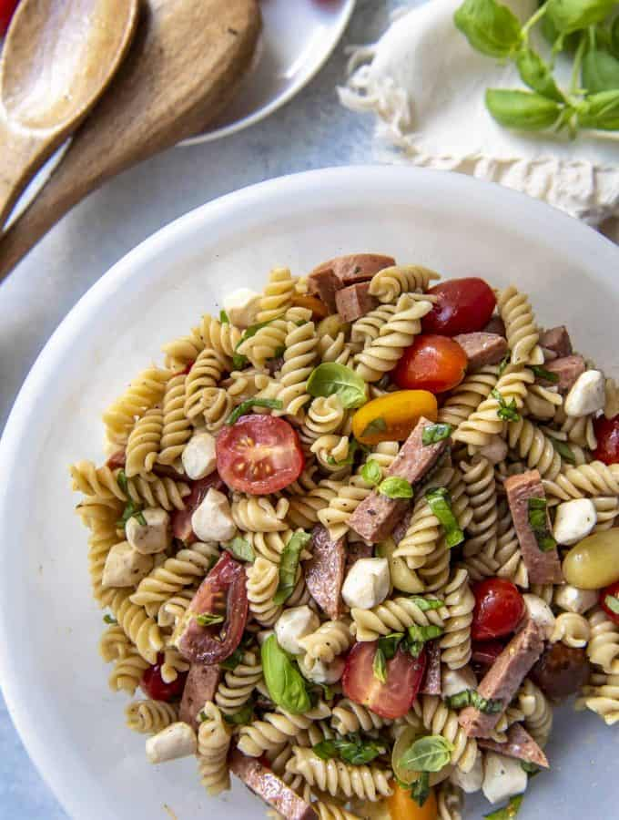 easy Caprese Pasta Salad recipe