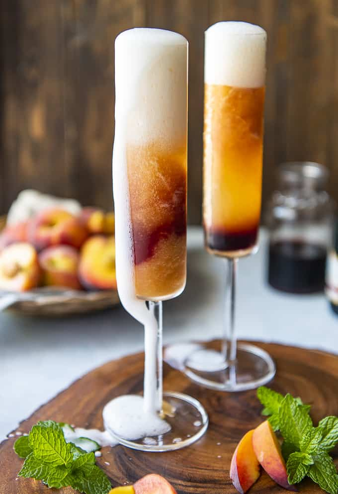 21 Refreshing Summer Cocktails Perfect for Brunch - Frozen Peach Bellini