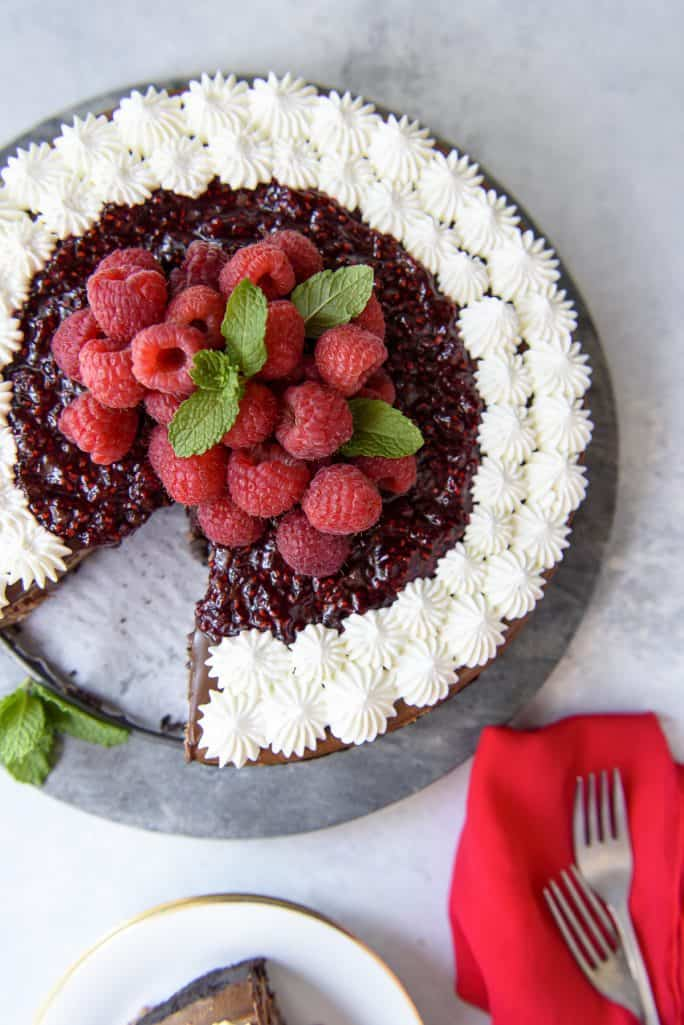 Raspberry Chocolate Cheesecake recipe