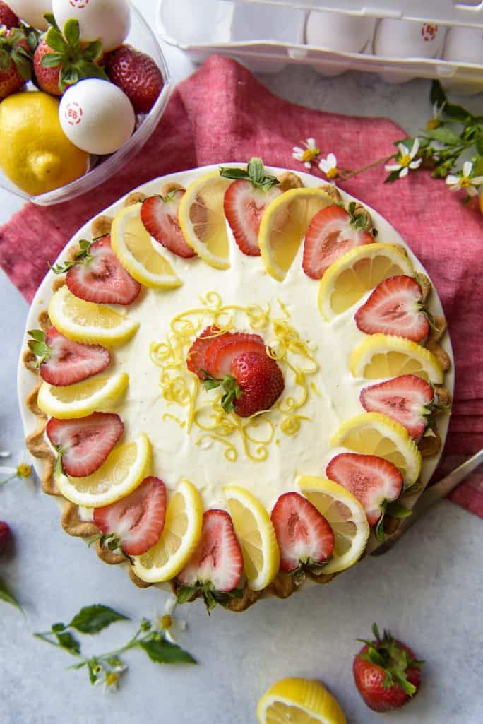 The Crumby Kitchen: Strawberry Lemon Icebox Pie recipe