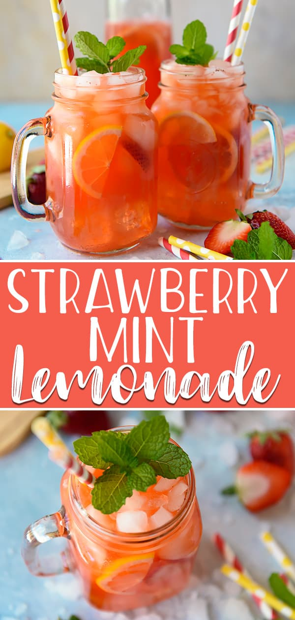 Summer in a glass is possible with this Strawberry Mint Lemonade! Fresh pureed strawberries are muddled with mint, then mixed with freshly squeezed lemonade - you can even turn this into a refreshing poolside cocktail by adding your favorite liquor!