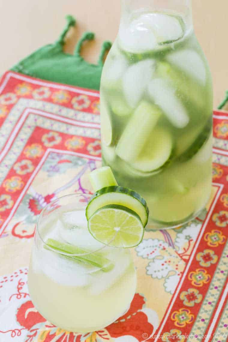 21 Refreshing Summer Cocktails Perfect for Brunch - Celery Cucumber Gimlet White Sangria