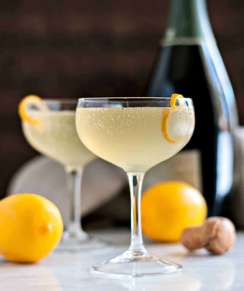21 Refreshing Summer Cocktails Perfect for Brunch - Meyer Lemon French 75