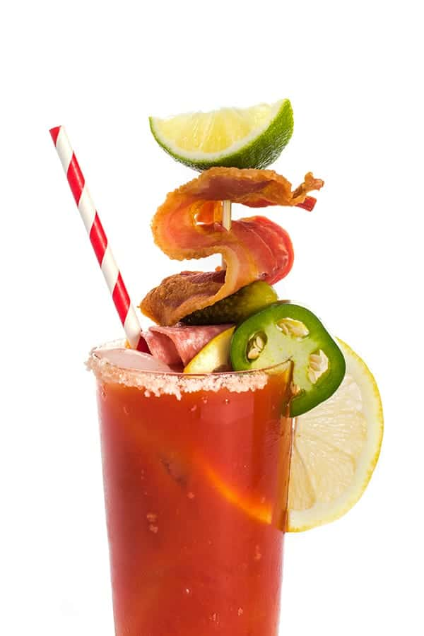 21 Refreshing Summer Cocktails Perfect for Brunch - Spicy Bloody Mary With Smoky Bacon
