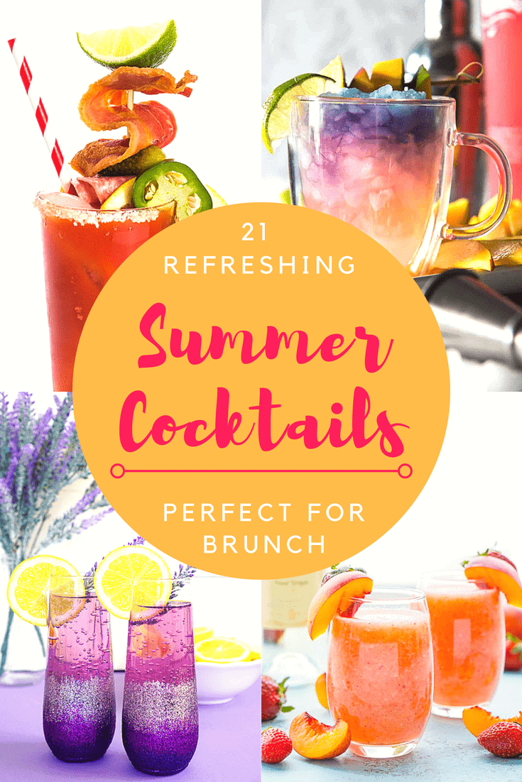 Summer has arrived, and with it comes all kinds of fun dining opportunities! Wake up a little early for a fresh, delicious weekday brunch before the sun gets too high and the temps too hot! Here are 21 Refreshing Summer Cocktails Perfect for Brunch!