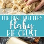 Consistent and versatile, my Nana's Flaky Pie Crust Recipe is the best you'll ever try! Made with only 5 ingredients, this easy all-butter pie crust can be made completely in your food processor and is perfect for both sweet & savory pies!