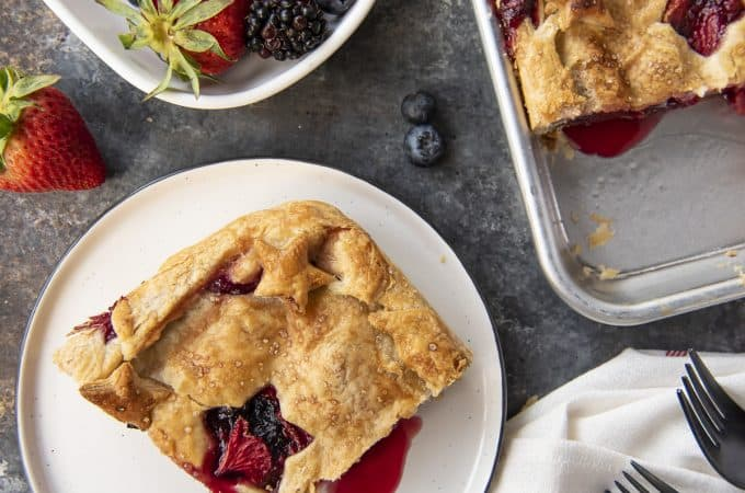 Triple Berry Slab Pie berry pie