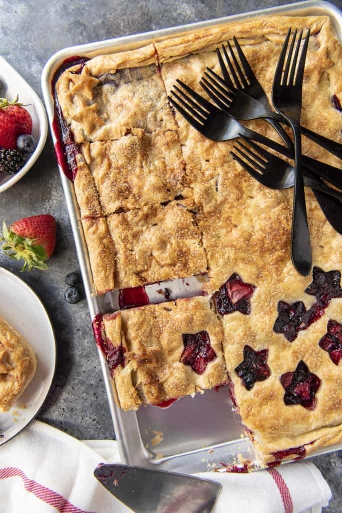 Triple Berry Slab Pie triple berry pie