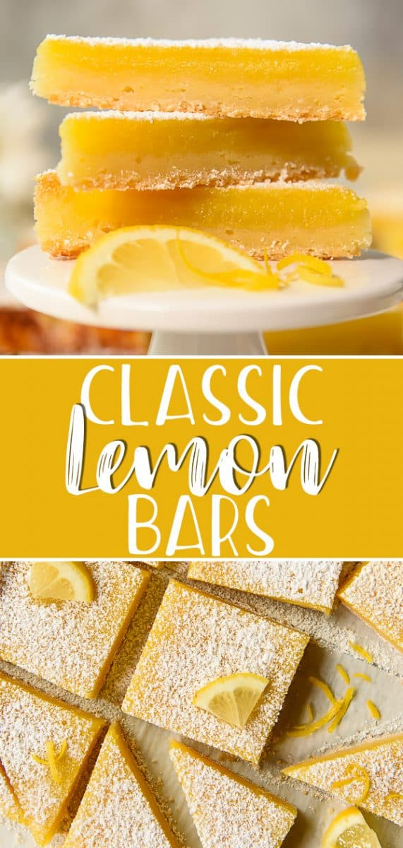 Easy to transport and even easier to eat, this Lemon Bar recipe is a truly classic dessert made for picnics and parties! Simple in design, they're nothing more than a tangy lemon custard filling on top of an easy, buttery shortbread crust - but they are perfect in every way!
