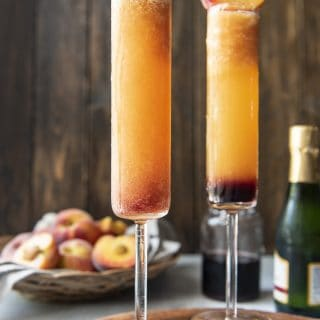 The Best Frozen Peach Bellini