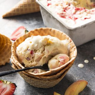 Strawberry Peach Ice Cream
