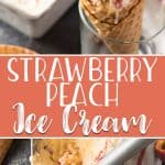 Two of the best summer flavors come together in this deliciously creamy Strawberry Peach Ice Cream! An old-fashioned custard base is blended with fresh peach puree, and swirled and studded with strawberry goodness.