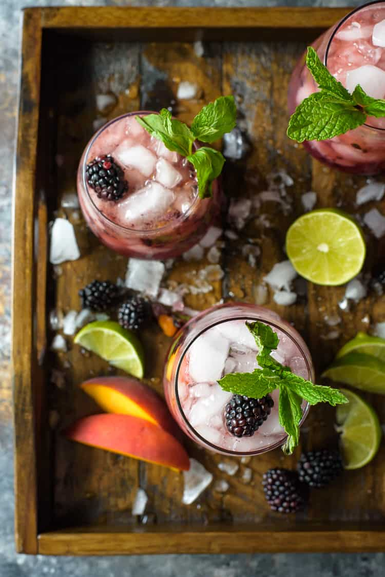 Blackberry Peach Bourbon Smash