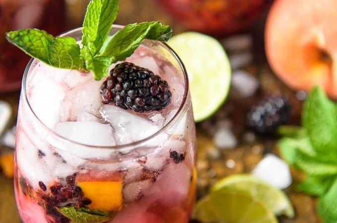 Blackberry Peach Bourbon Smash