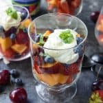 Summer Fruit Salad recipe with Citrus Poppy Seed Yogurt