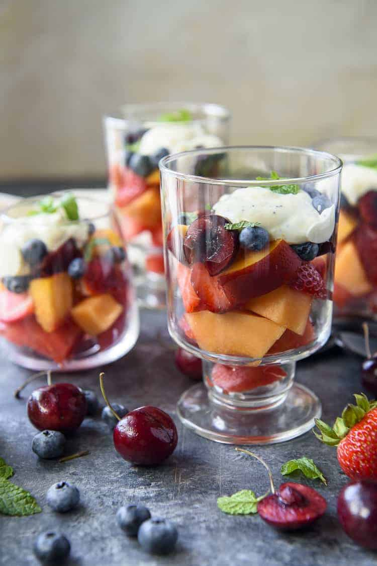 Summer Fruit Salad with Citrus Poppy Seed Yogurt