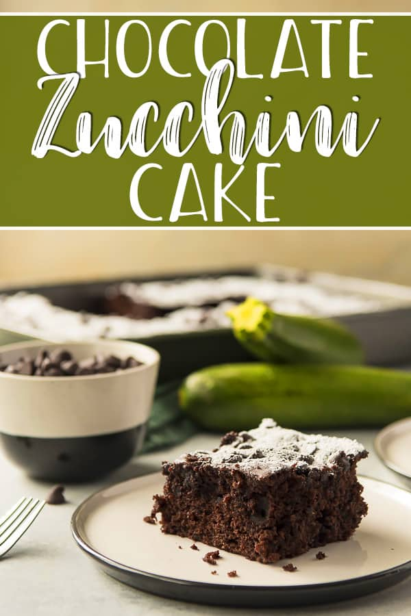 A cross between cake and a supremely moist brownie, this Chocolate Zucchini Cake is completely irresistible! This single layered confection is made extra decadent by the addition of shredded zucchini - a hidden healthy ingredient you won't even be able to taste through the rich chocolate!