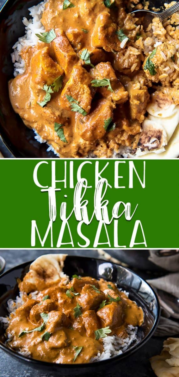 Skip the takeout and whip up this easy Chicken Tikka Masala on your stovetop at home! Tender yogurt-marinated chicken, bursting with ginger, garlic, and Indian spices in a deliciously creamy tomato sauce - it's perfect for mopping up with a batch of naan bread on a cool night.