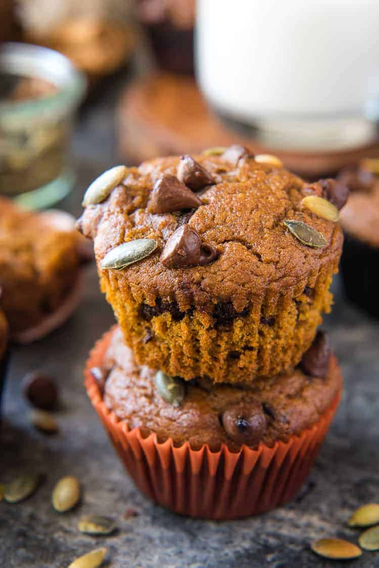 Pumpkin Chocolate Chip Muffins #PumpkinWeek
