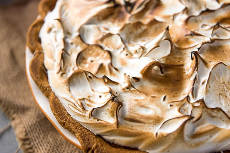 Pumpkin Pie with Marshmallow Meringue